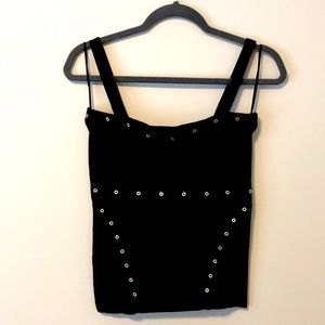 Black Caché Tank Top with removable straps